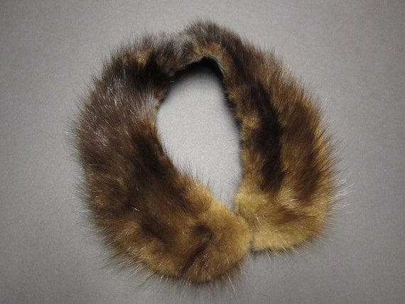 Fur Collar and Belt, Upcycled Fur, Ready to Ship