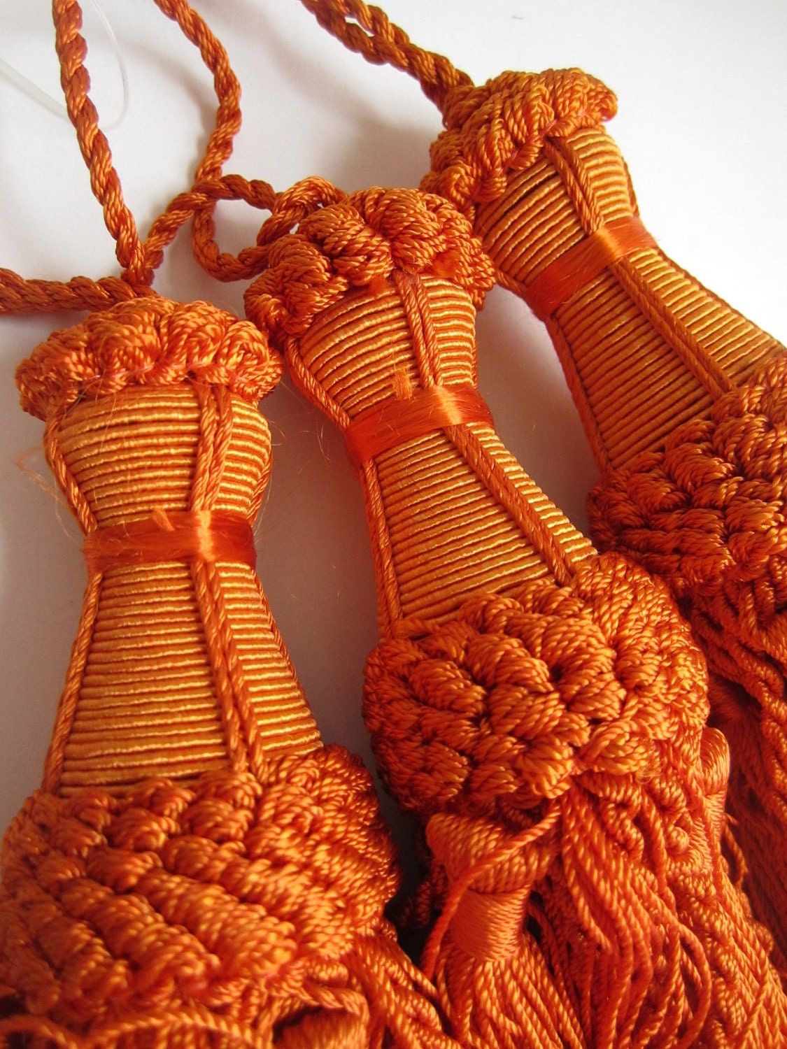 orange curtain tassels indian home decor curtain tiebacks