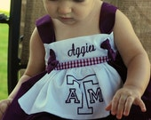 Texas A and M Apron Knot Dress 6-12m READY TO SHIP