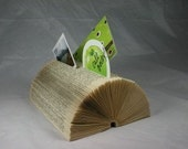 Recycled Book Organizer