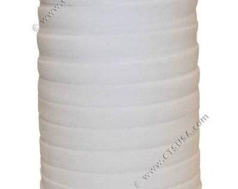 One Inch White Ultra Soft Fold Over Elastic FOE 50 yds Roll