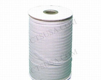 A Quarter Inch White SOFT Braided Elastic 144 yds Roll