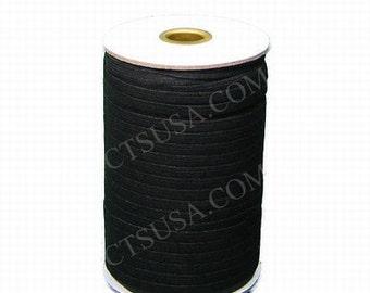 """1/2"""" Inch Black Braided Elastic 144 yds Roll"""
