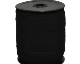 """1/4"""" Black Knitted Elastic Roll 288 yds"""