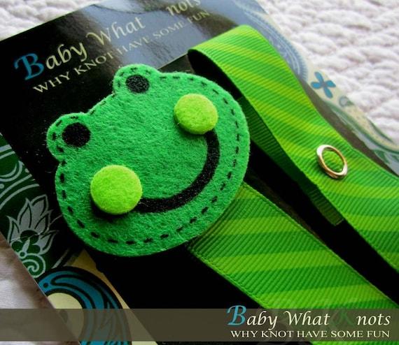 Baby Boy Pacifier Clip, Frog Pacifier Clip, Baby Pacifier Clip