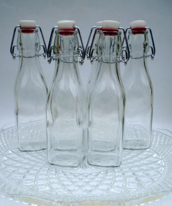 Reusable swing top glass bottles for Easy break glass bottles