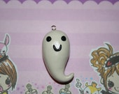 Kawaii Spooky Halloween Smiling Ghost Charm
