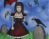 Lilith and the Unusual Weather -print