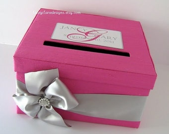 Custom Wedding Card Boxes Wedding Gift Card Box Wedding Card Holder Money Card Box - Custom Made to Order