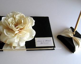 Wedding Guest Book & Pen Set - Custom made to order