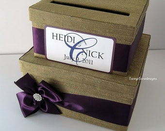 Wedding Card Money Box Holder - Customized for you - made with 100% Silk Dupioni