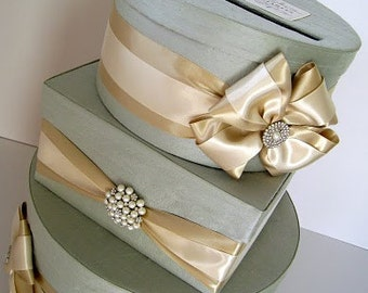 Wedding Card Box  - You customize colors and accessories