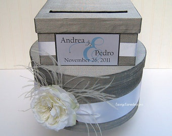 wedding card box money card box gift card holder Custom Made to Order