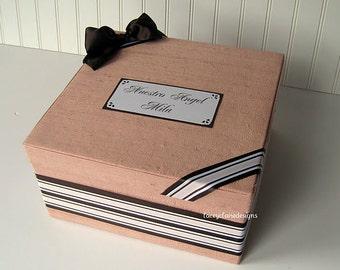Baby Keepsake Box Memory Box Card Holder - Made to Order Custom Made