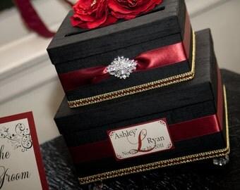 Vintage style wedding card box money holder Custom Card Box
