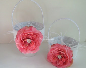 Flower Girl Baskets Set of 2 Custom Made