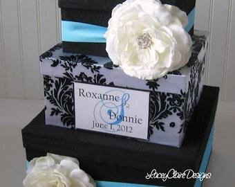 Card Box Damask Wedding Card Holder Custom Made