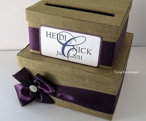 wedding card money box holder card box with slot secure card