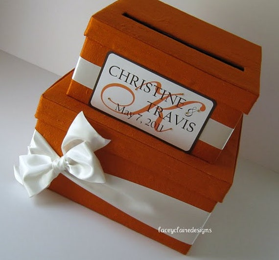 Money Card Box Wedding Card Holder Wishing Well You customize colors and embellishments
