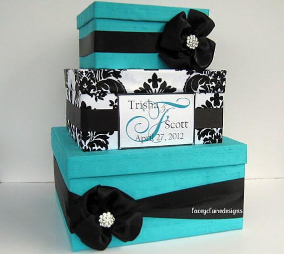 Wedding Card Box Aqua Wedding Box Audrey Hepburn Blue Box