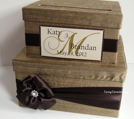 Wedding Gift Money Card : Wedding Card Box, Gift Card Box, Money Card Box - Custom Made