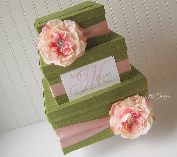 Wedding Gift Envelope Containers : Items similar to Wedding Card Box Envelope Gift Box Custom Made on ...