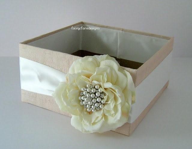 Wedding Program Box Blush Pink Amenities Powder Room