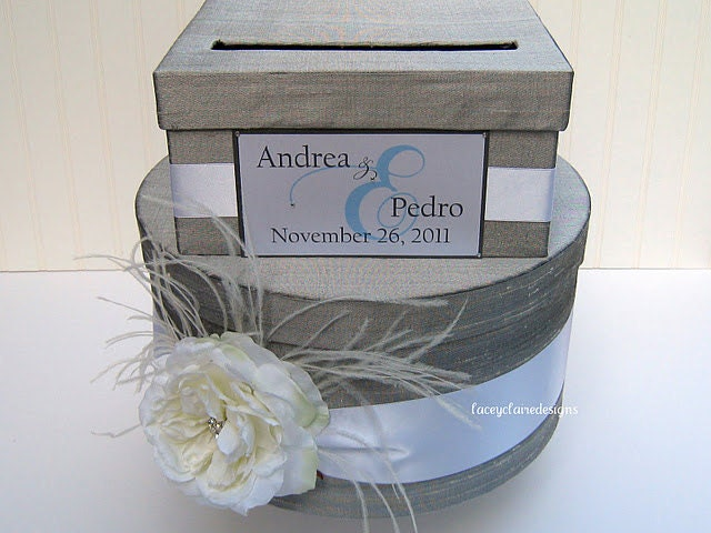 wedding card box money card box gift card holder Custom Made – Round Wedding Card Box