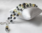 3-Strands stone bracelet-Great for casual or Wedding.