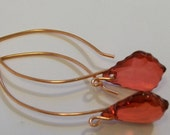 RED Peridot Lucite Earrings