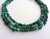 Triple Strand Turquoise Stone Necklace