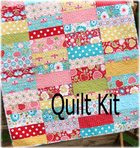 Apple Cobbler Baby Quilt Kit includes backing