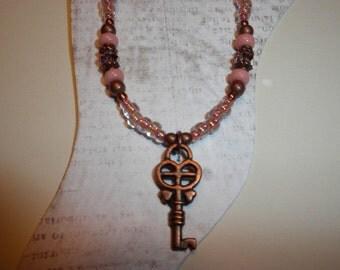 Stunning Copper Key Ankle Bracelet