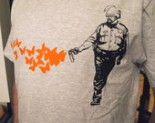 """Reddit inspired Occupy Wall street """"Casually Butterfly Everything"""" shirt"""
