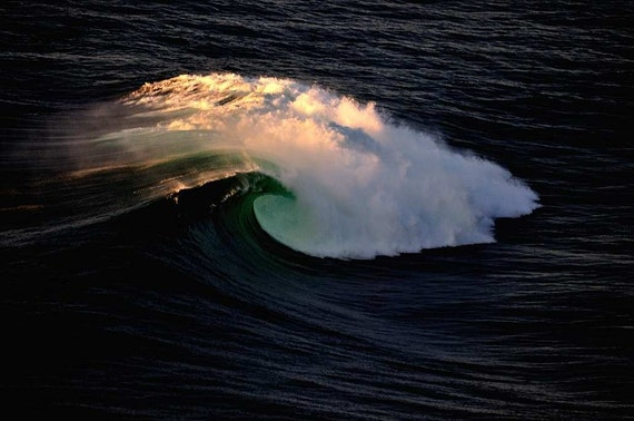 a wave called aileens, off the cliffs of mohar co clare ireland