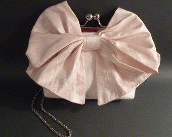 Flower Girl Clutch | Bow Clutch|Pink Bow / Customize