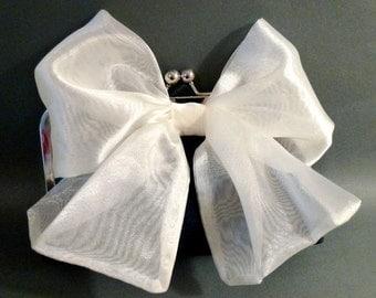 Bridesmaid Clutch Organza Bow on Silk Clutch Customize