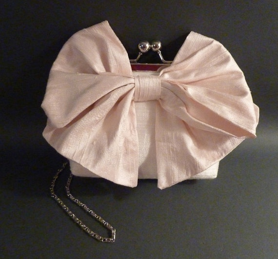 Flower Girl Clutch | Bow Clutch|Pink Bow | SALE | Ready to Ship
