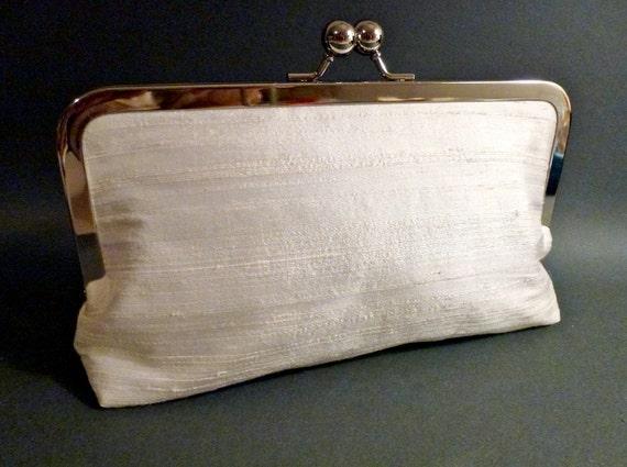 Bridal Clutch or Bridesmaids Clutch Dupioni Silk CUSTOMIZE