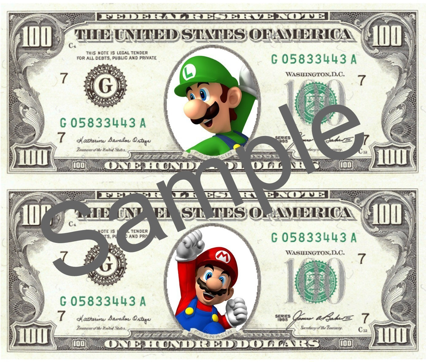 Printable Toy Money : Super mario play money digital file print your own