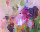 FUCHSIA Original Abstract Painting on stretched Canvas,