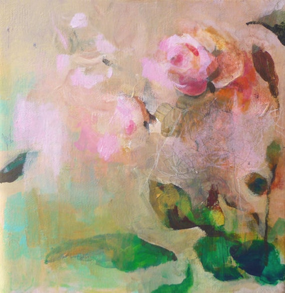 ROSES 6 Original Abstract Painting on stretched Canvas,