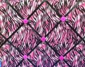 Allover Hot Pink Black Zebra Photo Memory Board