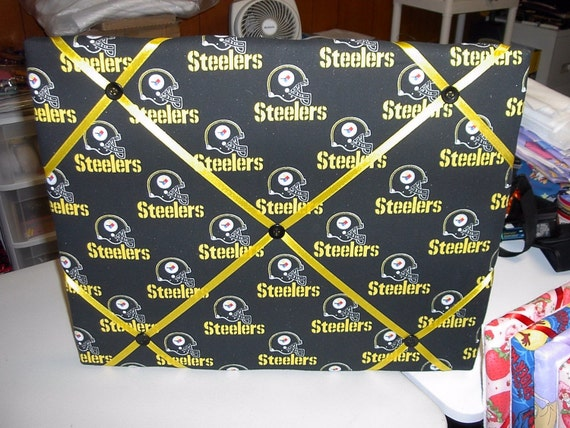 Pittsburgh Steelers Black and Gold photo memory board