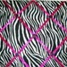 Zebra Fabric Photo Memory Board your choice of ribbon and buttons