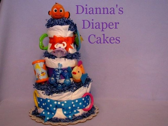 finding nemo baby diaper cake under the sea baby diaper cake shower