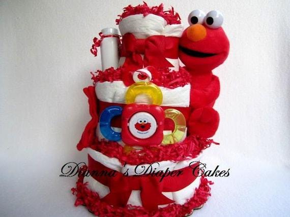 elmo baby diaper cake shower gift newborn present
