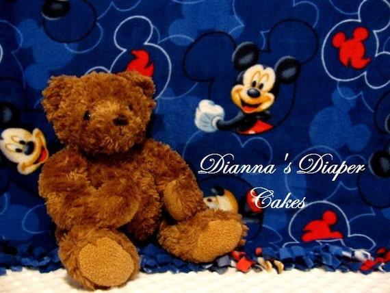 Newborn Baby Blanket Fleece Mickey Mouse, Baby Shower Gift, Newborn Present