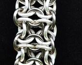 Louhi Bracelet - Silver Plated and Gun Metal