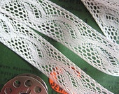 VINTAGE LACE, White Needle Lace, 5/8 Inches Wide, 3 Plus Yards